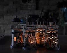 Handmade Mediterranean-style lighthouse Candle holder