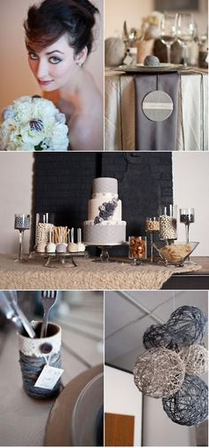 Grey and white Wedding