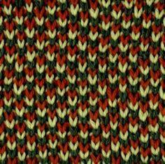 Three-Color Stockinette Brioche - Knittingfool Stitch Detail