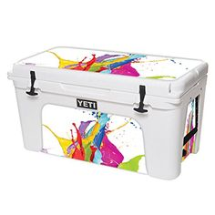 MightySkins Protective Vinyl Skin Decal for YETI Tundra 75 qt Cooler wrap cover sticker skins Circus Splash ** For more information, visit image link.