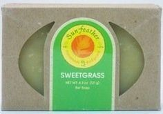 Sunfeather - Bar Soap Sweetgrass - 4.3 oz. by Sunfeather. $4.67. Sweetgrass Soap by Sunfeather 4.3 oz Bar Soap Sweetgrass Soap 4.3 oz Bar Soap Sweetgrass has been enjoyed ceremonially for centuries. A unique soap designed to purify and uplift. Its sweet aromatic essence soothes and enlightens both the both the body and mind. Artisinal handcrafted soap. Paraben-free gluten-free soy-free vegan soap. Plant-based soaps formulated with certified organic base oils. Scented with essent...