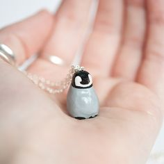 Le Optimistic Baby Penguin Totem Necklace, $44 on LeAnimale #Etsy
