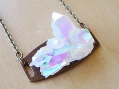 AZURE aura crystal necklace, I want this very bad.