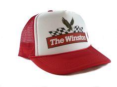9cc392402d6 Vintage The Winston Nascar Trucker Hat Nascar hat mesh hat snapback hat red   Unbranded