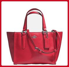 Coach Crosby Mini Carryall in Leather. Silver/true Red. Style No: 33537 - Shoulder bags (*Amazon Partner-Link)