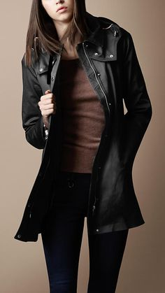 Burberry Brit Showerproof Car Coat with Removable Warmer