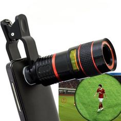 LIEQI LQ - 007 Universal Clip 8X Zoom Telephoto Lens for Mobile Phone iPhone 6 Plus Samsung Galaxy S6 Notebook PC iPad etc.-7.12 and Free Shipping| GearBest.com