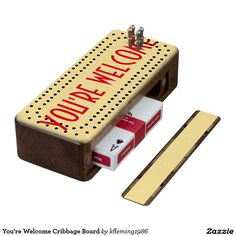 You're Welcome Cribbage Board