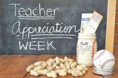"""Play Ball"" Mason Jar Teacher Appreciation"