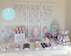 Pink Little Birdie Party Decoration Printables by InviteMe2Party, $29.00