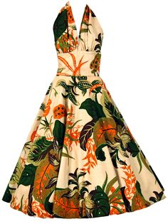 ~1950's tropical print with sequins from Timeless Vixen~