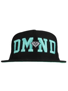 Diamond Supply Co. DMND Snapback Hat - Black/Diamond Blue/White $37.00 #diamondsupply