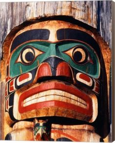 Totem Pole,Vancouver Island By Walter Bibikow, Danita Delimont Canvas Art - Multi Arte Inuit, Arte Haida, Inuit Art, Haida Art, Native Art, Native American Art, American History, Native Indian, American Symbols