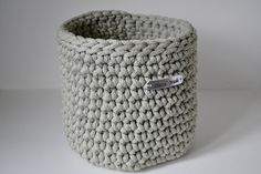 Light gray basket, rope crochet basket, storage basket, home decor by iKNITSTORE on Etsy Storage Baskets, Light Colors, Crocs, House Warming, Lights, Handmade, Bright Colors, Lighting, Craft