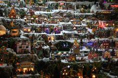 Christmas village in some ones garage!