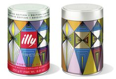 Packaging featuring illustrative work by Cameroon based artist and graphic designer Alioum Moussa for Illy's limited edition coffee tin
