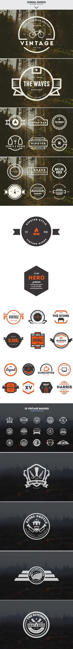 MASSIVE BUNDLE 576 Vintage Logos by DesignDistrict on @creativemarket