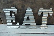 Kitchen sign rustic home decor hand made farmhouse primitive humor funny chic Metal Wall Letters, Metal Wall Decor, Metal Walls, Primitive Kitchen Decor, Farmhouse Wall Decor, Diner Sign, Windmill Wall Decor, Rustic Cafe, Corrugated Metal