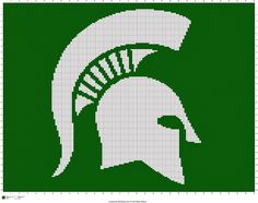 FREE Michigan State Spartans Crochet Pattern| The Faux Menno: More Free Sports Crochet Charts!
