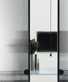 Glasitalia. Pond House wardrobes? ribbed glass for timber framed doors: