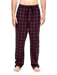 Noble Mount Mens Cotton Woven Double Layer Soft Lounge Pant