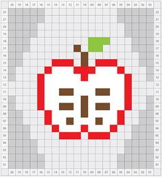 Ravelry: Apple (at different stages of being eaten) Charts pattern by Nett Hulse