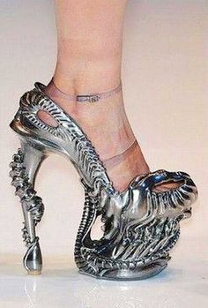 Whoa! STRANGE ALIEN shoes, eff no! I did not even watch those movies they are too weird!