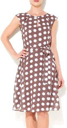 Wallis Taupe Polka Dot Dress on shopstyle.com