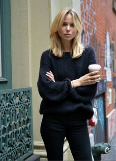 Elin Kling wearing Isabel Marant sweater.