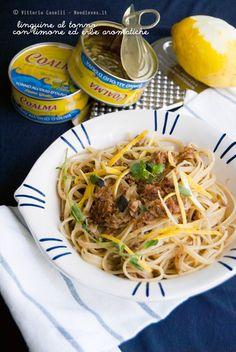 Linguine al tonno Coalma, limone ed erbe aromatiche. Thanks @Noodloves - Passione in Cucina - Passione in Cucina
