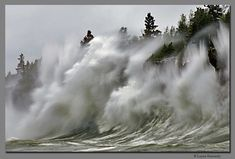 Lake Superior waves can be treacherous -*Click to read a tribute to the Edmund Fitzgerald.