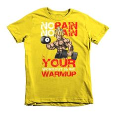 Super Saiyan Vegeta Gym No Pain No Gain Kid Shirt - PF00443KS