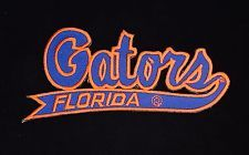 "UF Florida Gators Vintage Embroidered Iron On Patch (NOS) 4.5"" x 2.2"""
