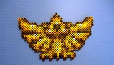 Hylian Crest perler sprite Legend of Zelda Pony Bead Patterns, Perler Patterns, Beading Patterns, Hama Beads, Fuse Beads, Cross Stitching, Cross Stitch Embroidery, Cross Stitch Patterns, Legend Of Zelda