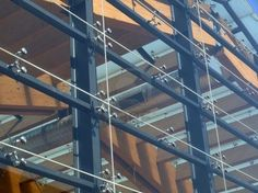 Detail of a modern structural glass facade Stock Photo