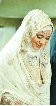 Beautiful hijabi bride