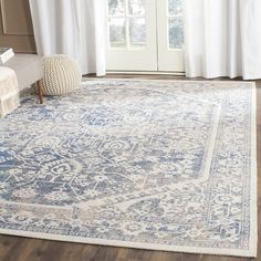 Features:  -Construction: Machine woven.  -Technique: Loomed.  -Origin: Turkey.  Technique: -Loomed.  Primary Color: -Gray/Blue.  Material: -Synthetic/Cotton.  Product Type: -Area Rug. Dimensions: Rug