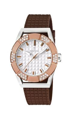 Festina F16563/2 Dream Women's White Dial Brown Polyurethane Band Analog Watch Check https://www.carrywatches.com