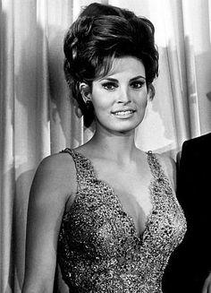 The stunning Raquel's high, 60's updo..love.