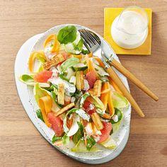 Chicorée-Grapefruit-Salat mit Croûtons   BRIGITTE.de