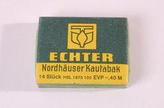 DDR Museum - Museum: Objektdatenbank - Kautabak    Copyright: DDR Museum, Berlin. Eine kommerzielle Nutzung des Bildes ist nicht erlaubt, but feel free to repin it!