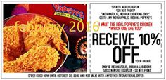 Popeyes Chicken Coupons Ends of Coupon Promo Codes JUNE 2020 ! Is chain the Miami, founded Popeyes headquarters was it In the is their. Online Coupons, Grocery Coupons, Free Printable Coupons, Free Printables, Franchise Restaurants, Worlds Best Chicken, Dollar General Couponing, Popeyes Chicken, Fried Chicken