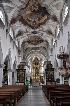 Laufenburg Church Interior, Switzerland, Worship, Travel Destinations, Houses, Interiors, Spaces, Traveling, Road Trip Destinations