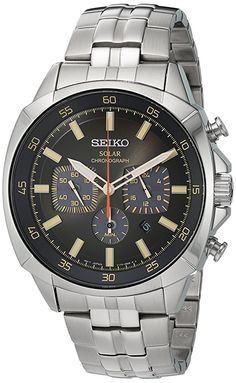 Seiko Men's Quartz Stainless Steel Casual Watch, Color:Silver-Toned (Model: SSC511) http://amzn.to/2C6aTHY