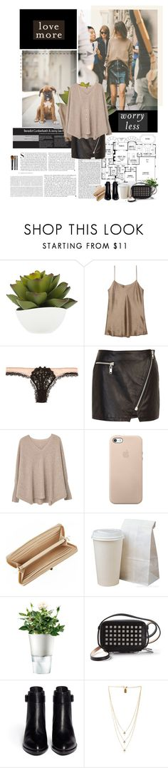 """""""Cozy Cashmere Sweater: Mix it up with a leather skirt!"""" by solespejismo ❤ liked on Polyvore featuring Bellagio, Kershaw, Vince, Agent Provocateur, River Island, MANGO, DKNY, Eva Solo, Reed Krakoff and Alexander Wang"""