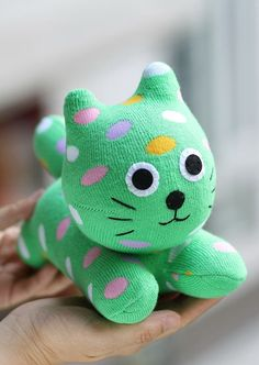 Personalized  plush  Sock  Cat   stuffed  animal  by Toyapartment, $12.90