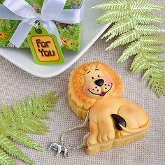 Baby Favor, Boy or Girl! Friendly Lion Trinket Box. Very Cute. www.ceceliasbestwishes.com