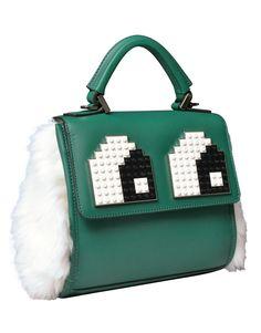 Bolsa Mini Alex Eyes Fur Green Les Petits Joueurs