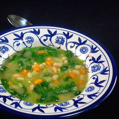 One Perfect Bite: Greens and Beans - A Tuscan-Inspired Bean Soup