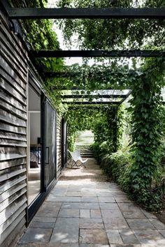 Pond Design, Landscape Design, Garden Design, Unique Gardens, Beautiful Gardens, Pergola Garden, Backyard, Garden Landscaping, Outdoor Rooms